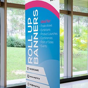 Roll up banner display by weprint.ie