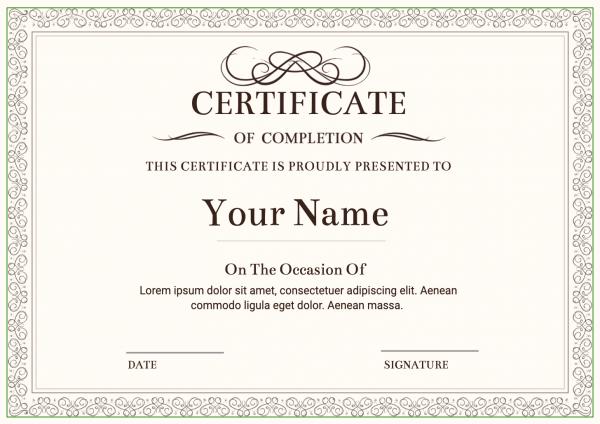 Award certificate printing online
