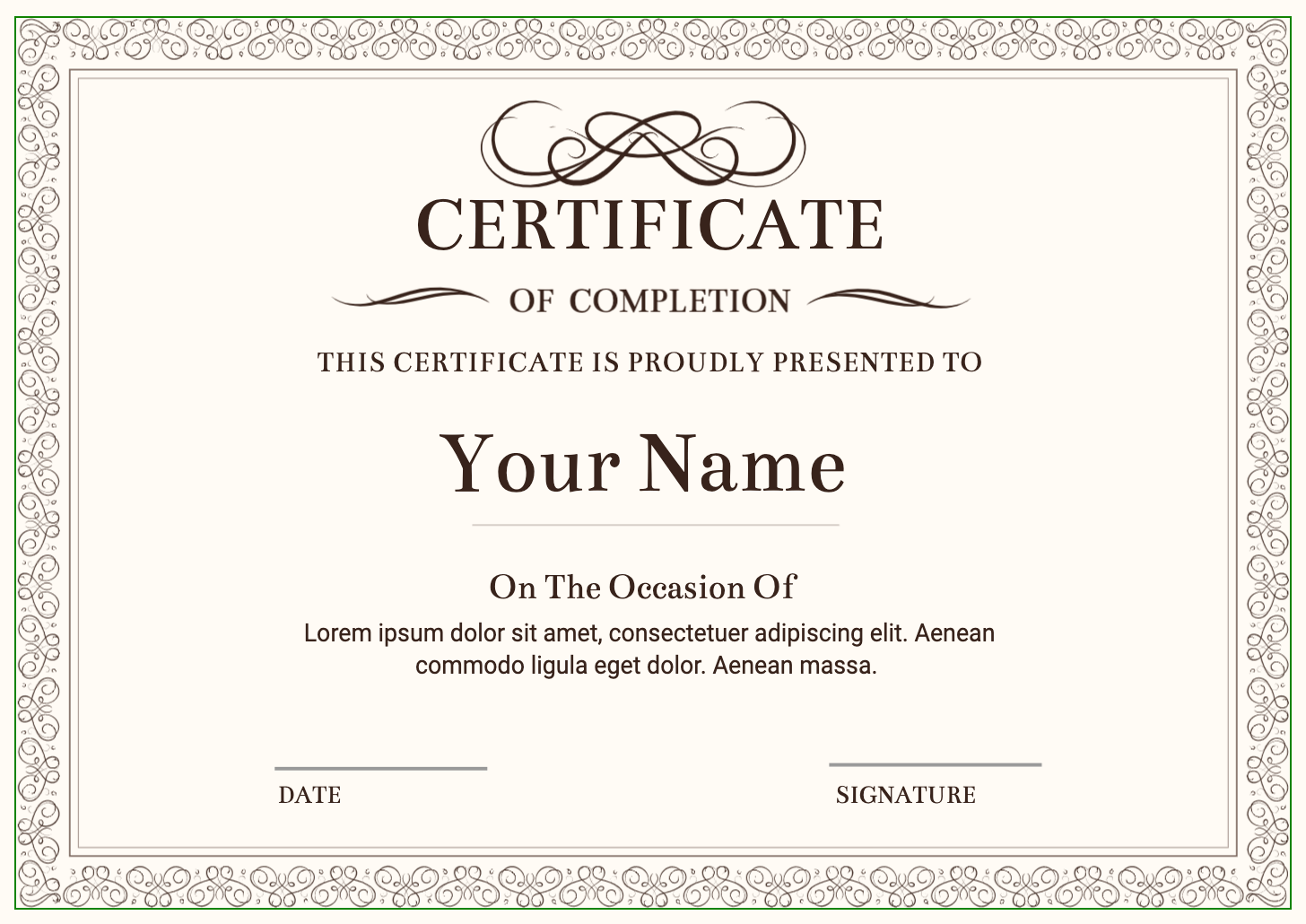 Certificates | Design Online
