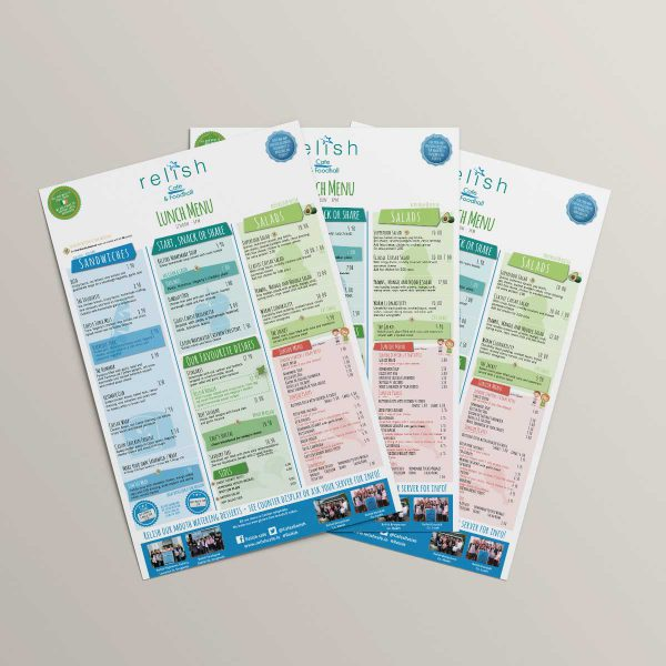 Full Colour Menu Printing