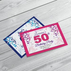 Custom Printed Party Invitations