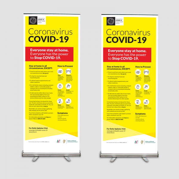 Covid-19 Pull Up Banners