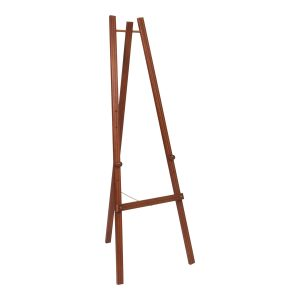Mahogany finish display easel