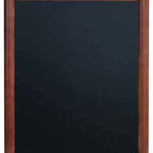 Chalkboard with mahogany finish wooden frame