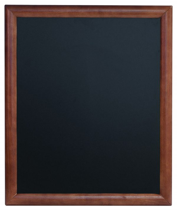 Chalkboard with mahogany finish wooden frame