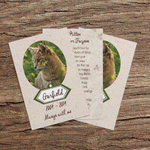 Pet Memorial Cards