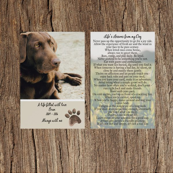 Dog Memorial Cards