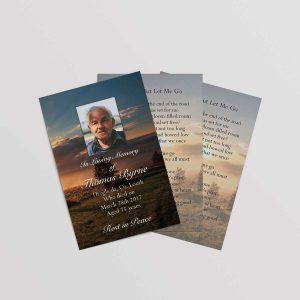 Memorial wallet card printing